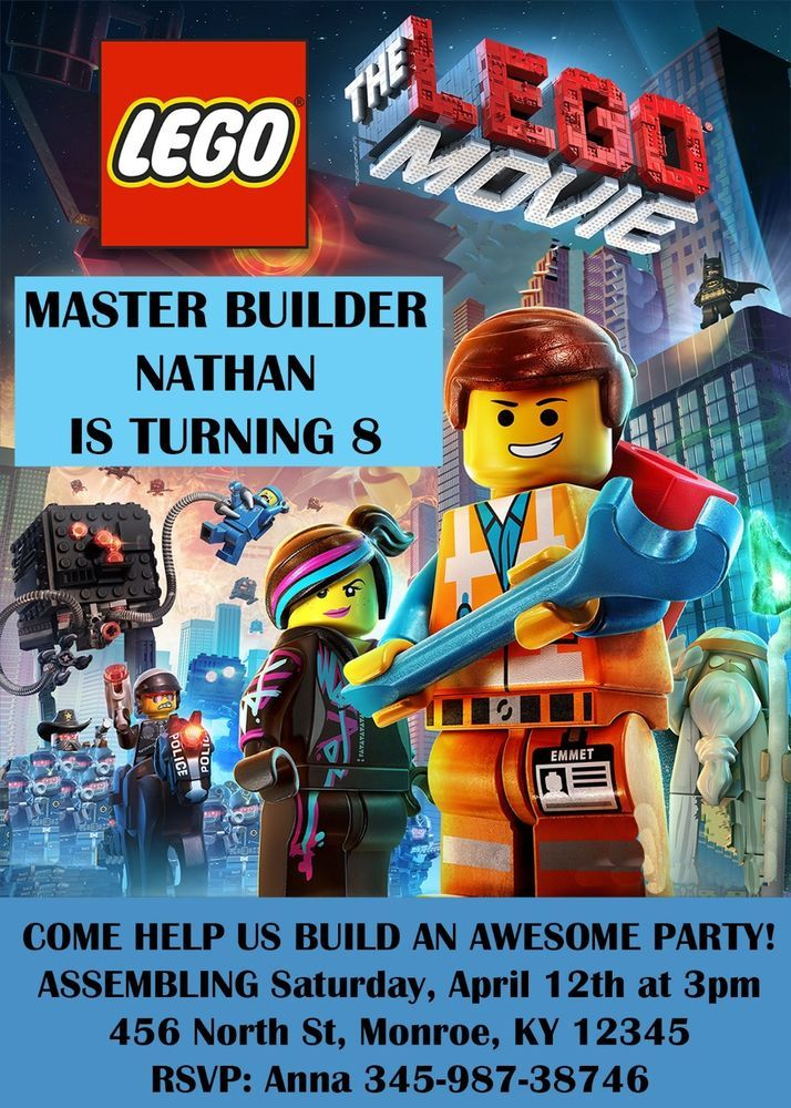 printable lego movie birthday invitations ; 51ae4bce602f5eb5e34883e5578b9485