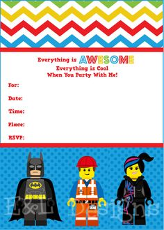 printable lego movie birthday invitations ; 8ab60ad9e1186aedf4eca792cd330205--lego-movie-party-fiesta-lego