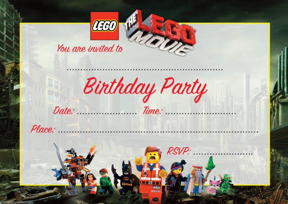 printable lego movie birthday invitations ; Lego-Movie-Birthday-Invitation-template