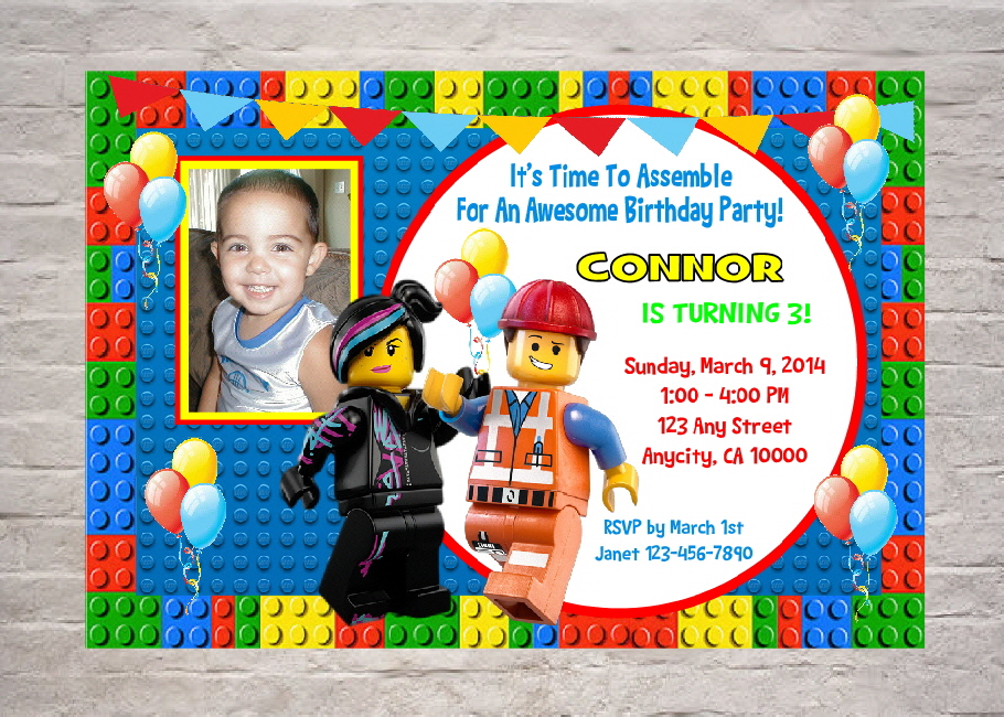 printable lego movie birthday invitations ; Lego-birthday-invitations-free