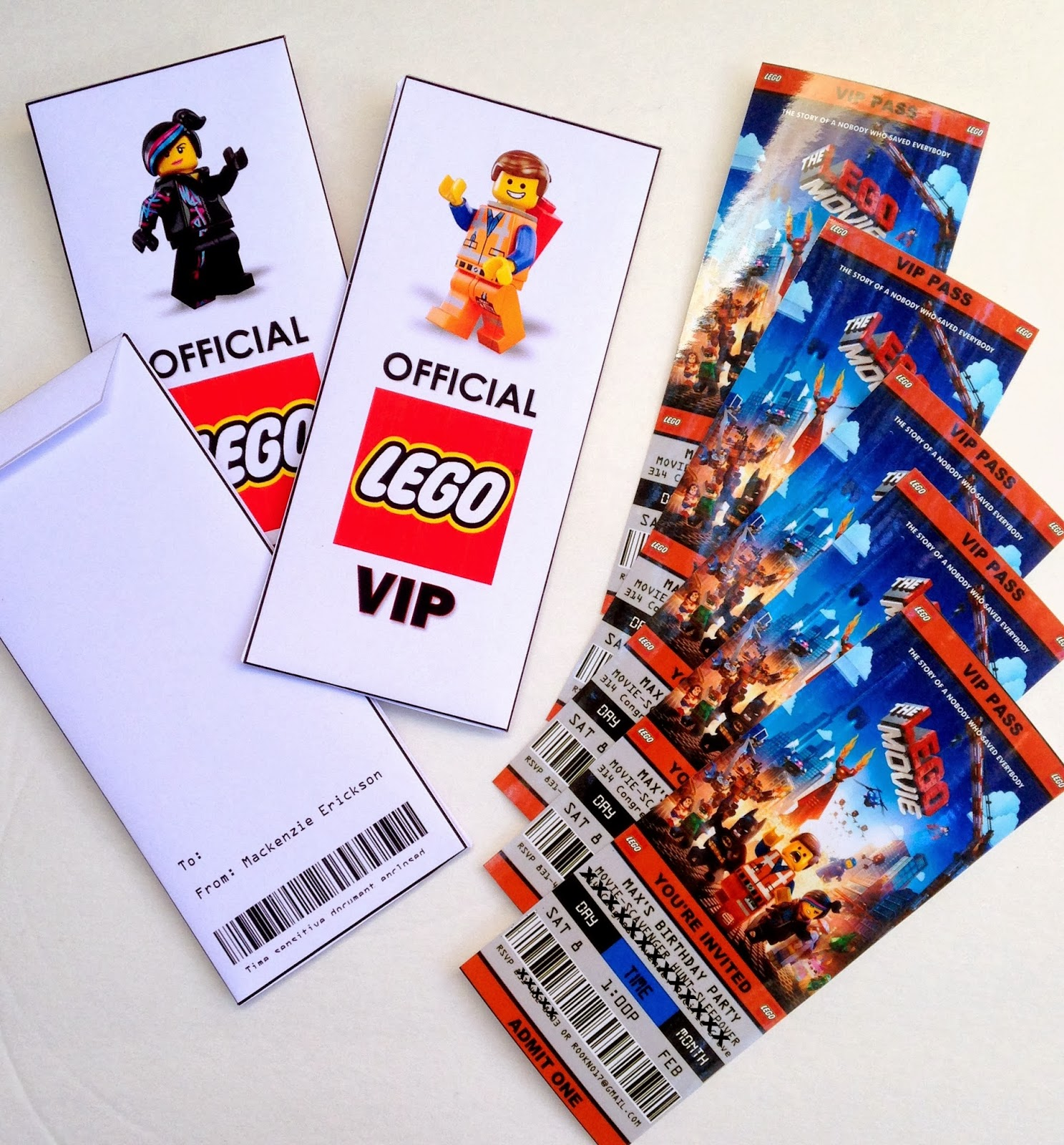 printable lego movie birthday invitations ; lego+movie+birthday+party+invitations+ticket+style+printable-001