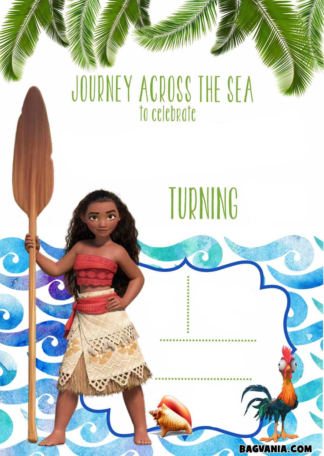 printable moana birthday card ; FREE-Printable-Moana-Invitation-Template-Beach-Theme