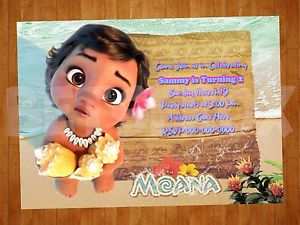printable moana birthday card ; s-l300
