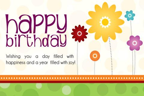 professional birthday greeting cards ; rectangular-shape-professional-birthday-cards-modern-designing-template-with-decoration-flower-theme-sample-text