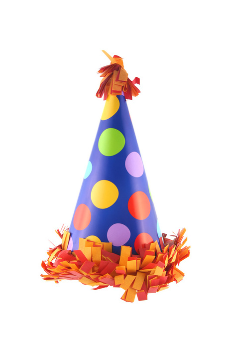 put a birthday hat on a picture ; 1863784-2