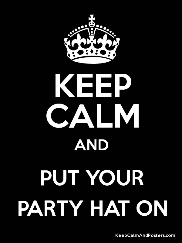 put a birthday hat on a picture ; 6404438