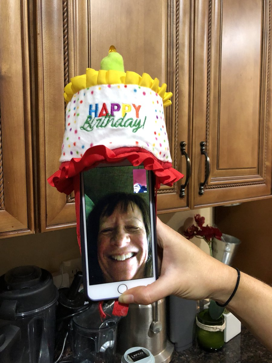 put a birthday hat on a picture ; DShlI-YVAAAt2qJ