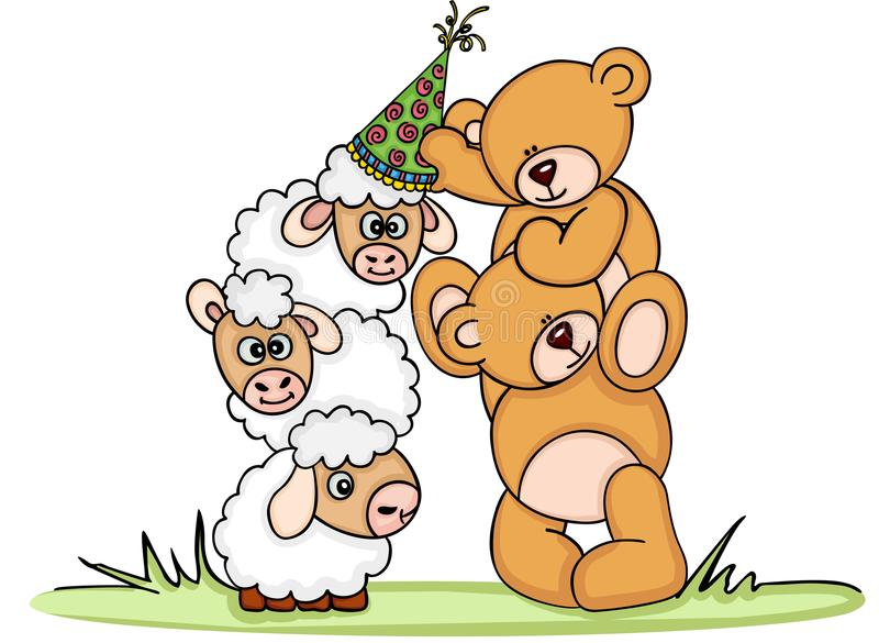 put a birthday hat on a picture ; teddy-bear-put-birthday-hat-sheep-scalable-vectorial-image-representing-teddy-bear-put-birthday-hat-sheep-isolated-99746749