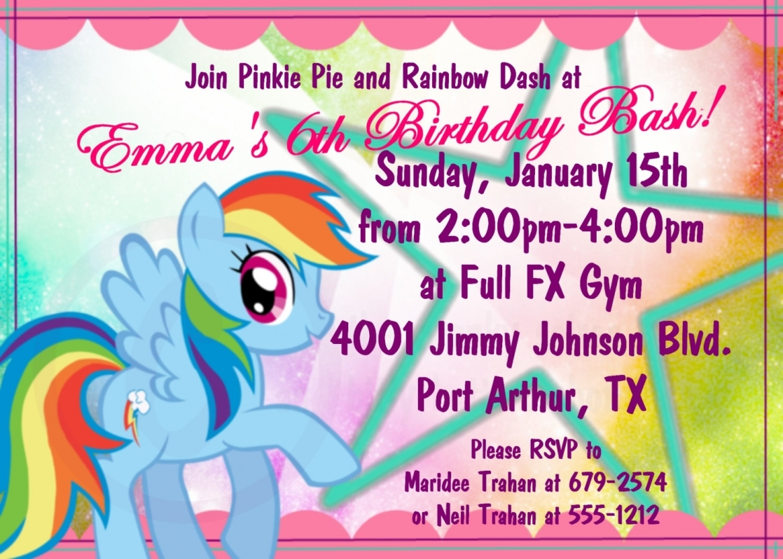 rainbow dash birthday card printable ; how-to-little-pony-birthday-party-invitations-designs-with-home-made-6