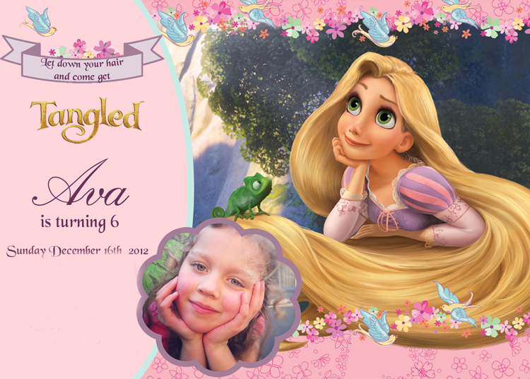 rapunzel birthday wish ; Avas-6th-birthday-Invitation