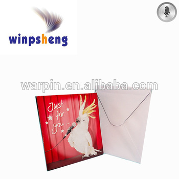 record message birthday card ; Wholesale-funny-parrot-record-message-birthday-card