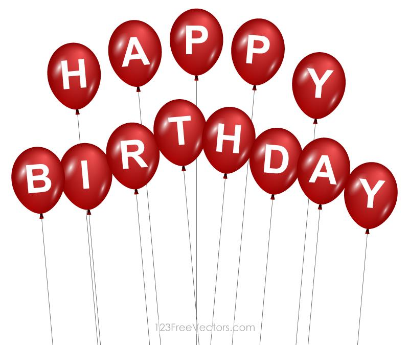 red happy birthday sign ; 1376-red-happy-birthday-balloons-image