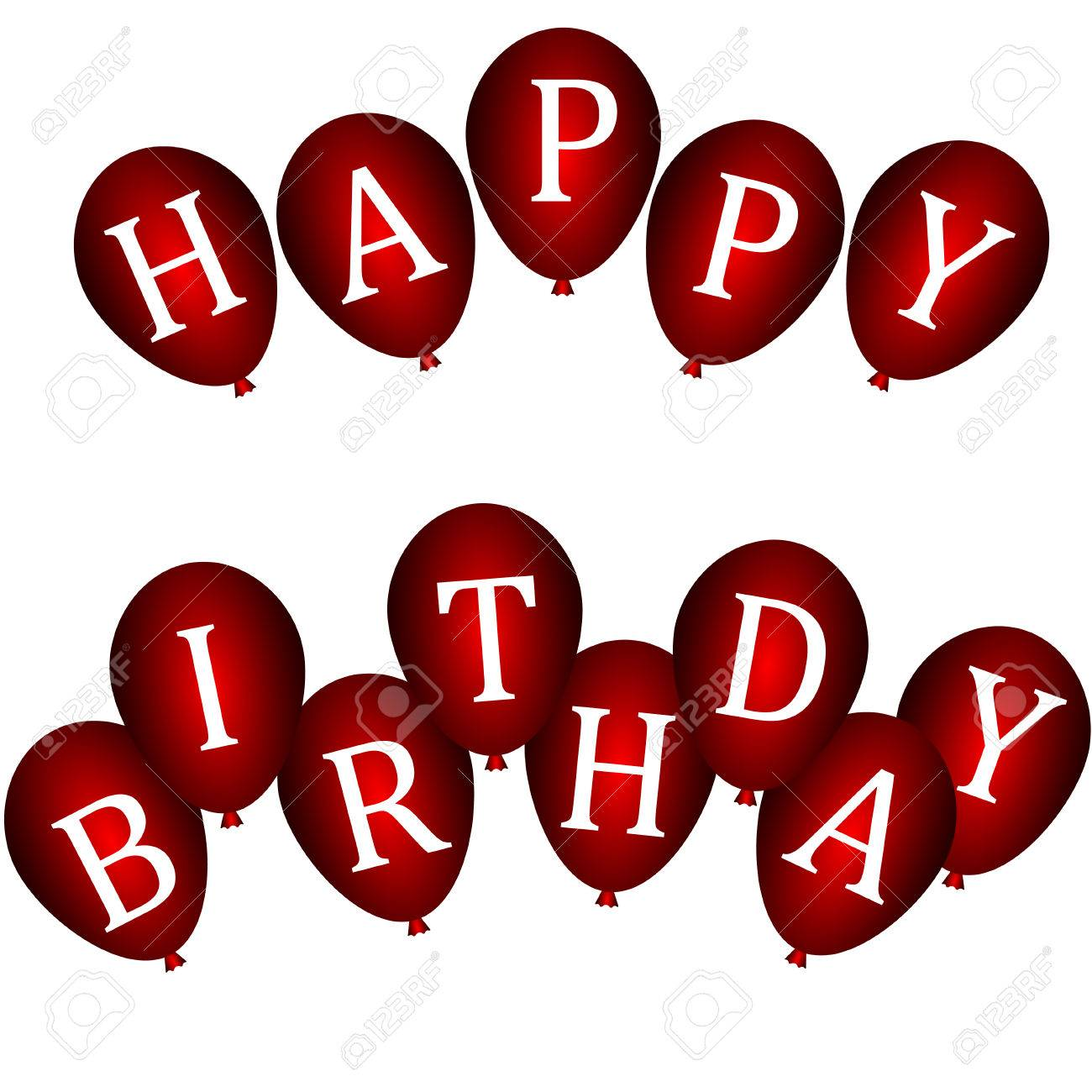 red happy birthday sign ; 25166163-happy-birthday-banners-with-red-balloons