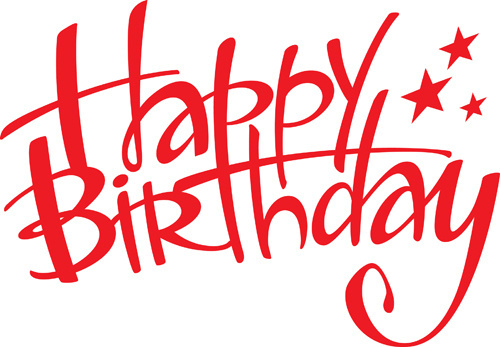 red happy birthday sign ; best_happy_birthday_design_elements_vector_set_524005