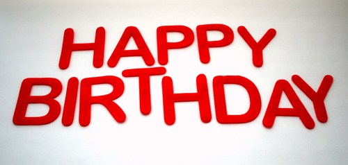 red happy birthday sign ; happy_birthday_felt_die_cut_letters_for_banner_3_5_inches_tall_a541_db2fffdc