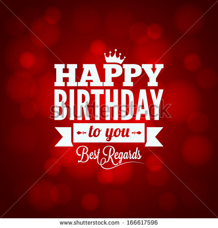 red happy birthday sign ; stock-vector-happy-birthday-sign-design-background-166617596