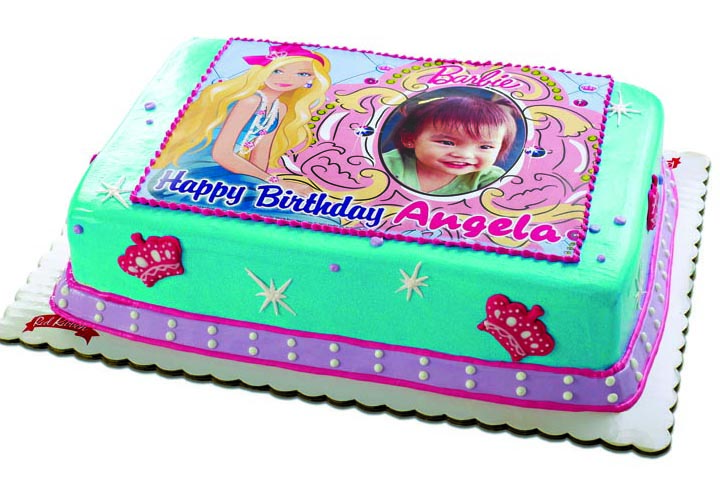 red ribbon birthday cakes design and prices ; Barbie+Modern+Princess+Picture+Cake