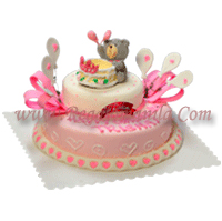 red ribbon birthday cakes design and prices ; large_3460_PINK-BABY-BEAR