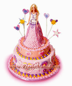 red ribbon birthday cakes design and prices ; large_598_barbiehearts