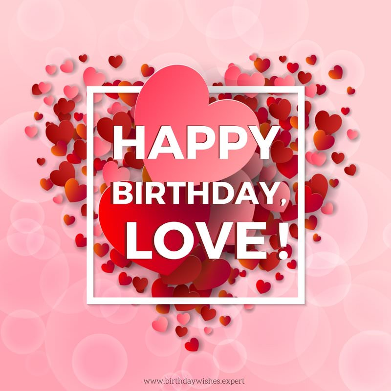 romantic birthday card messages for boyfriend ; Birthday-wish-for-my-boyfriend-on-background-with-love-hearts