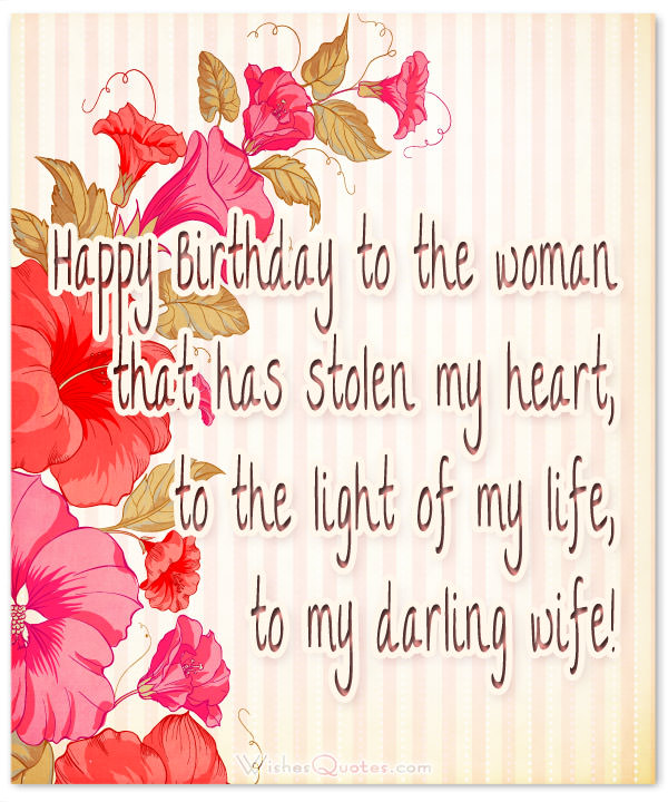 romantic birthday card messages for wife ; happy-birthday-darling-wife