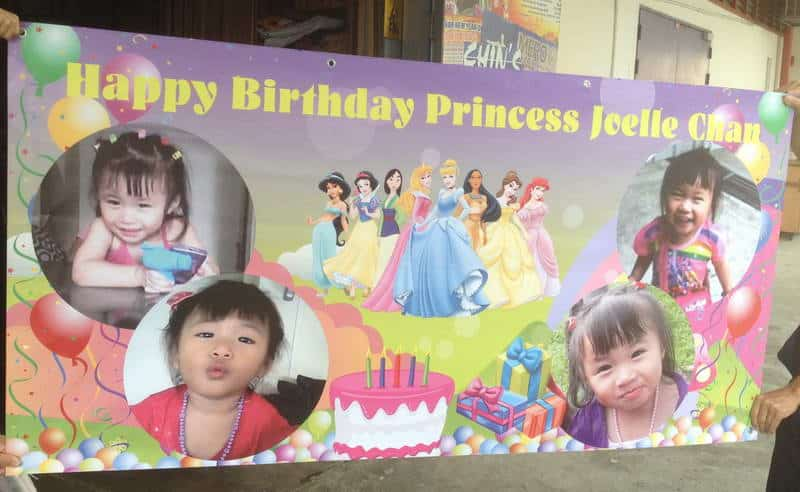 sample birthday banners designs ; Banner-Printing-for-Birthday-with-Disney-Princess-design
