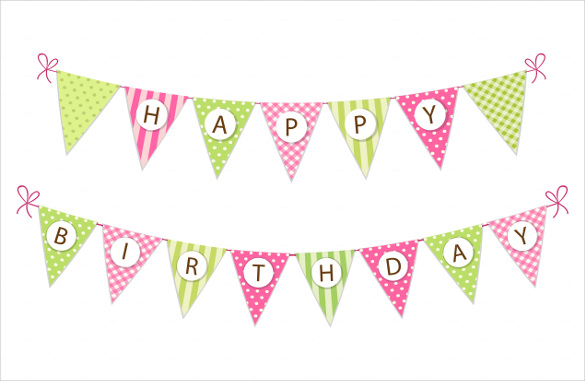 sample birthday banners designs ; Decoration-Birthday-Banner-Template