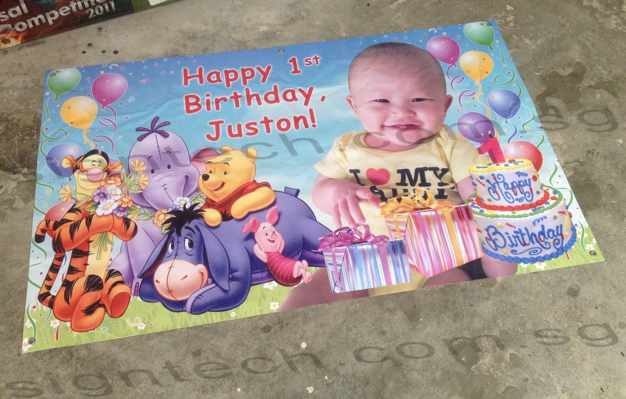 sample birthday banners designs ; birthday-banner-with-winnie-the-pooh-and-real-cake-design-e1437251162998