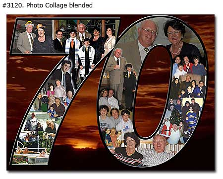 sample picture collage for birthday ; 3120_01-Birthday-Collage-Blended