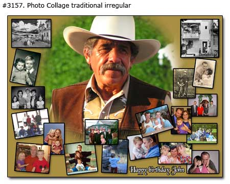 sample picture collage for birthday ; 3157_01-Birthday-Collage-Traditional