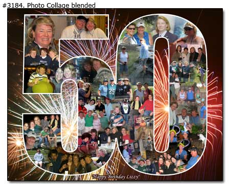 sample picture collage for birthday ; 3184_01-Birthday-Collage-Blended