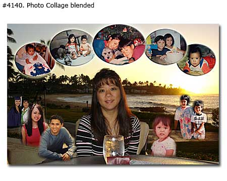 sample picture collage for birthday ; 4140_01-Family-Collage-Blended
