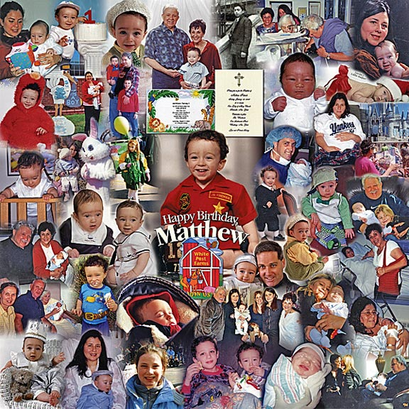 sample picture collage for birthday ; creative-child-photos-idea