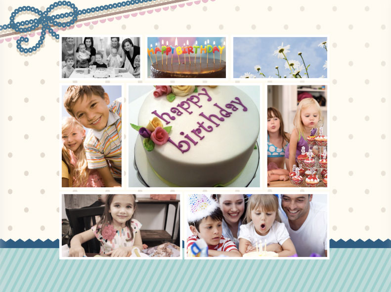 sample picture collage for birthday ; sample-b3
