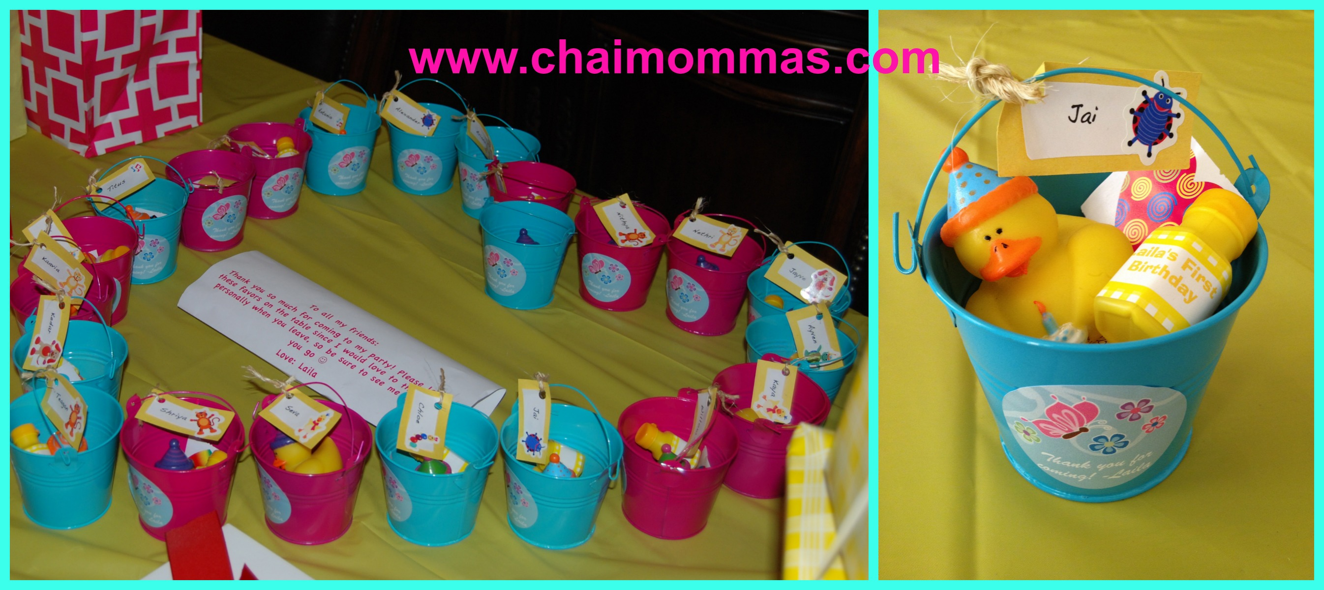 sample pictures of birthday giveaways ; favors