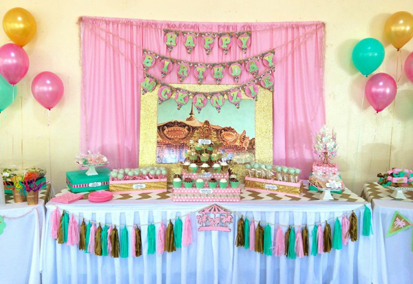 second birthday party themes ; Cupcakes-and-Carousels-2nd-Birthday-Party-Via-Karas-Party-Ideas-KarasPartyIdeas-24