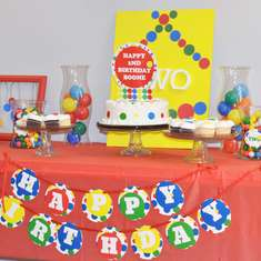 second birthday party themes ; a