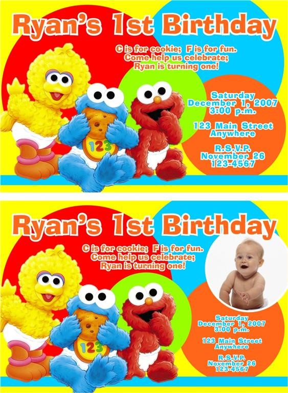 sesame street 1st birthday photo invitations ; Mesmerizing-Sesame-Street-1St-Birthday-Invitations-Which-Can-Be-Used-As-Birthday-Party-Invitation-Template