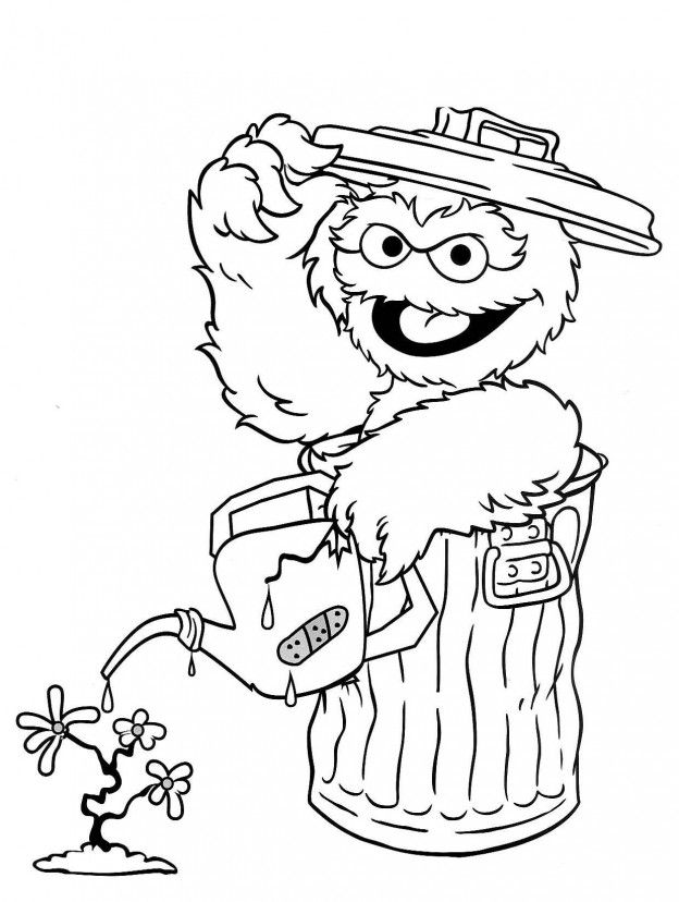 sesame street birthday coloring book ; 022d9f046f314d77685d3a8773918457--oscar-the-grouch-coloring-books
