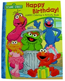 sesame street birthday coloring book ; 51JszbmPhvL