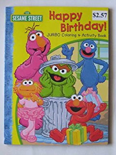 sesame street birthday coloring book ; 51UcFf-CjRL