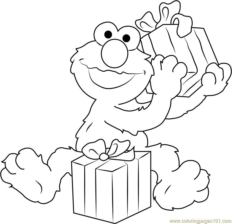 sesame street birthday coloring book ; 77224-happy-birthday-elmo