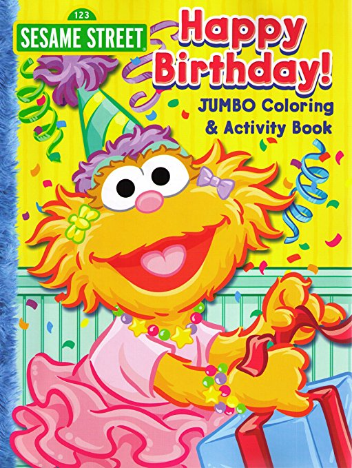 sesame street birthday coloring book ; A14R4QIEECL