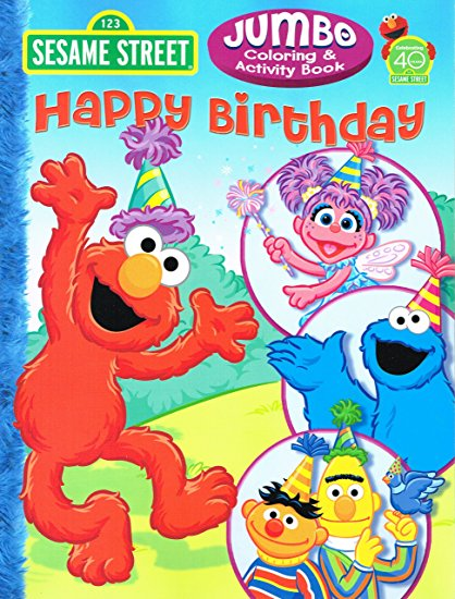 sesame street birthday coloring book ; A1EwzadWC3L