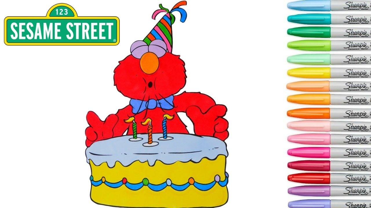 sesame street birthday coloring book ; maxresdefault