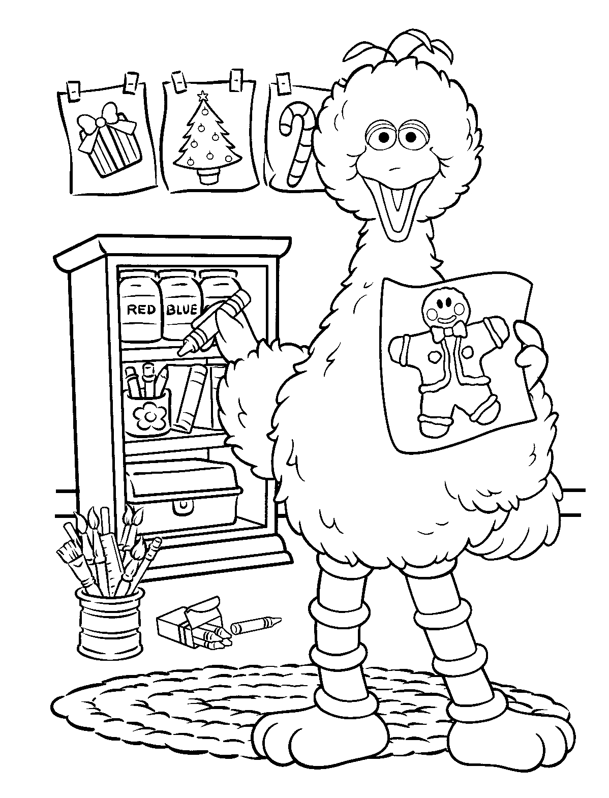 sesame street birthday coloring book ; popular-sesame-street-coloring-books-pages-for-kids
