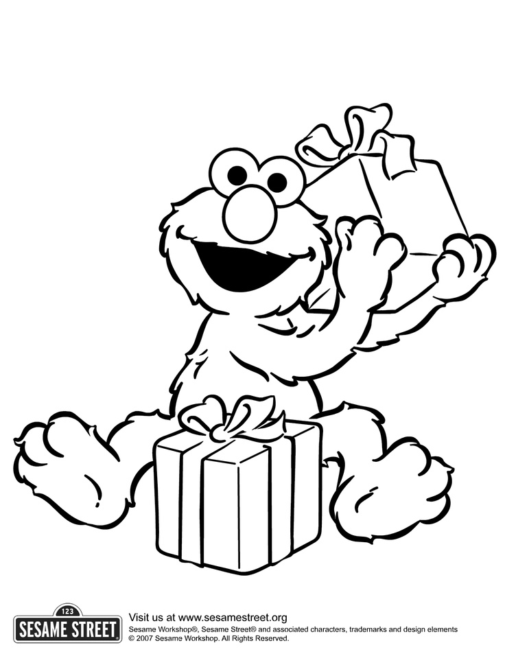 sesame street birthday coloring book ; sesame-street-christmas-coloring-pages-sesame-street-elmo-birthday-coloring-pages-cartoon-funny-for-kids
