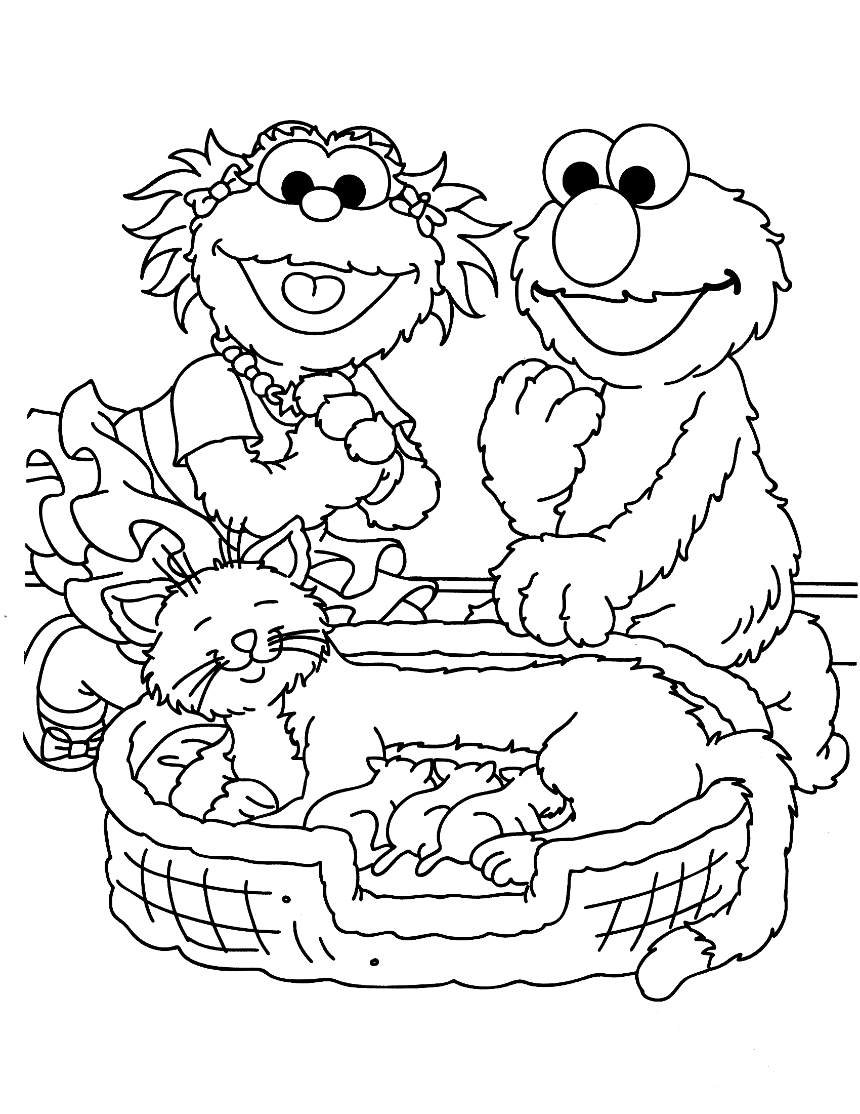 sesame street birthday coloring book ; sesame-street-coloring-pages-printable-1st-b-day-pinterest-and