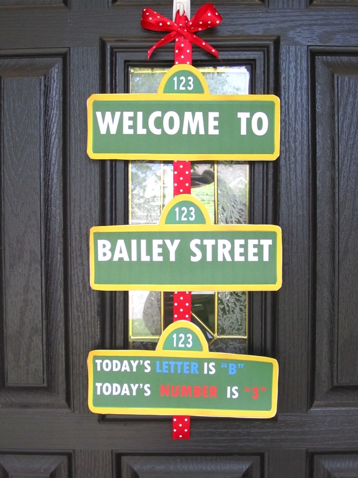 sesame street birthday door sign ; 2c5c4bb12ad51fd84f141a4e88013e79--elmo-birthday-birthday-party-ideas