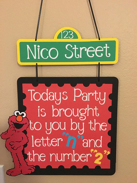 sesame street birthday door sign ; 78b5a41f8bd757c92dcd311dce6c2002